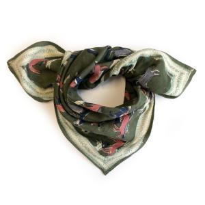 foulard manika licorne kaki