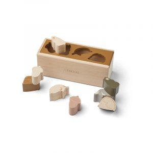 Boîte à formes en bois liewood