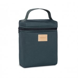 lunch bag isotherme et waterproof carbon blue nobodinoz