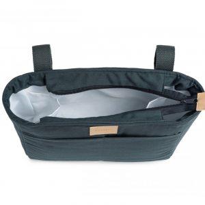 organisateur de poussette waterproof baby on the go carbon blue nobodinoz