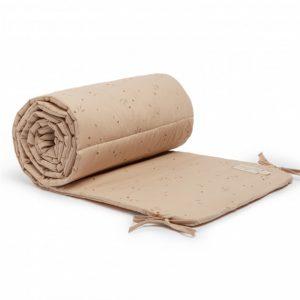 Tour de lit en coton bio de la marque Nobodinoz avec imprimé Willow dune